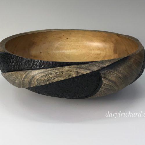<p>Elm<br /> Turned, burned, carved & Acrylic ink<br /> SOLD</p>
